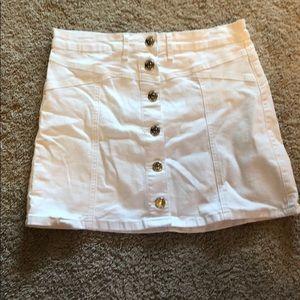 Dresses & Skirts - White Denim Mini Skirt